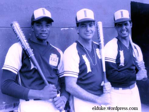 El Duque, Arocha y Osvaldo Fernandez en el equipo Industriales